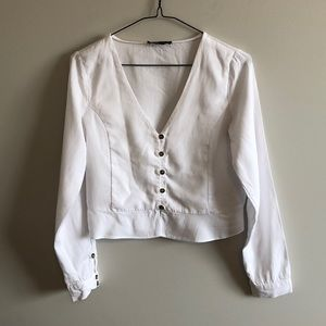 Zara Cropped Blouse